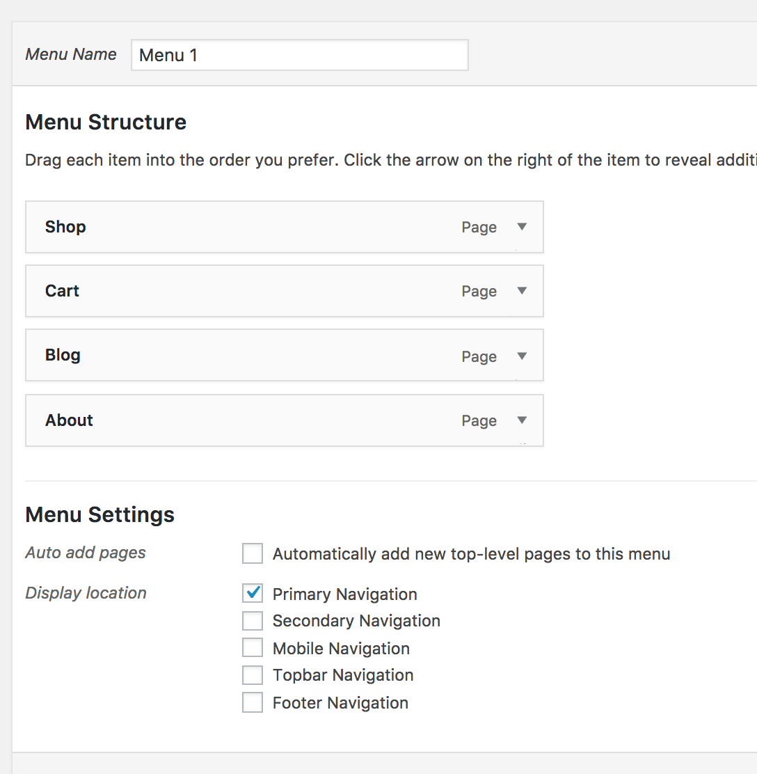 how to make a menu virtue theme woocommerce cody schneider